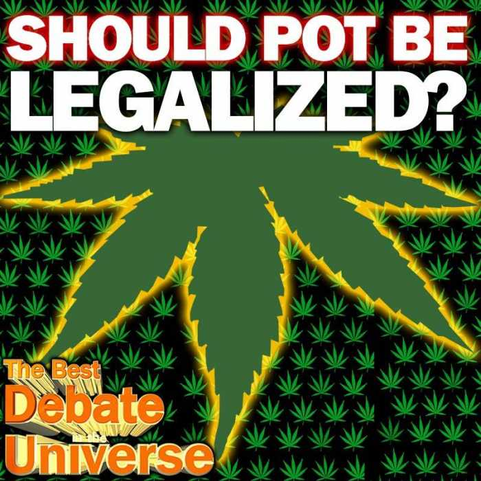 Madcast Media Network - The Best Debate in the Universe - It's 4/20 this week, which means two things: it's Hitler's birthday, and it's the day that pot-smokers around the US protest anti-marijuana laws. So the debate this week is: SHOULD POT BE LEGALIZED?