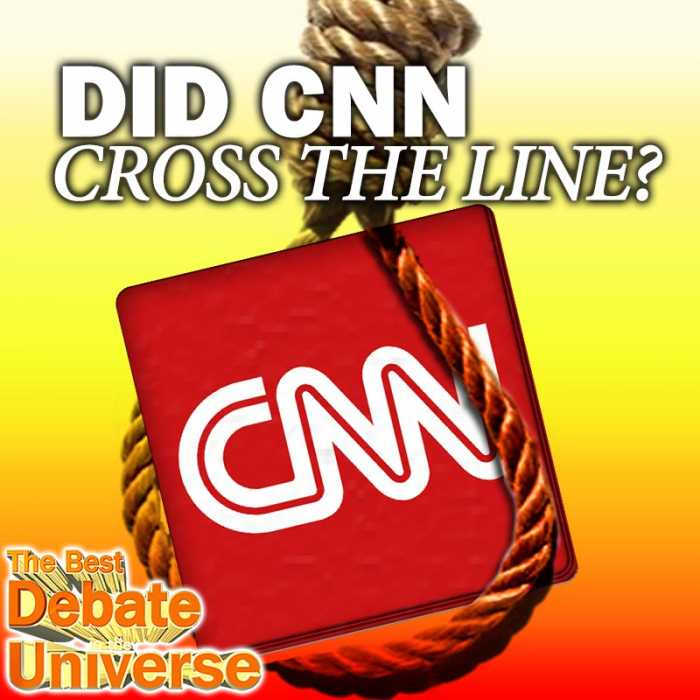 "Madcast Media Network - The Best Debate in the Universe - Recently Trump tweeted a GIF of CNN getting body slammed and CNN tracked down the user who created it, but decided not to publish his name since the user apologized. Then CNN added that they reserve the right to publish his name ""should any of [his apology] change."" So that leads us to the debate this week: DID CNN CROSS THE LINE?"
