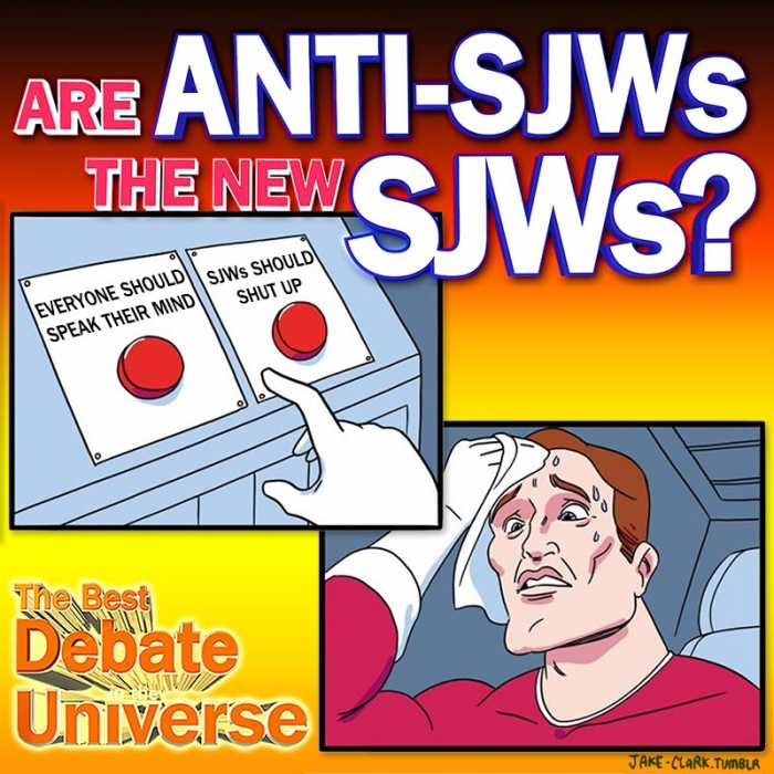 Madcast Media Network - The Best Debate in the Universe - Many pepole criticize SJW culture as being overly sensitive and delicate snowflakes. But more and more, there's criticism that the anti-SJW side is just as outraged and reactionary. So the debate this week is: ARE ANTI-SJWS THE NEW SJWS?