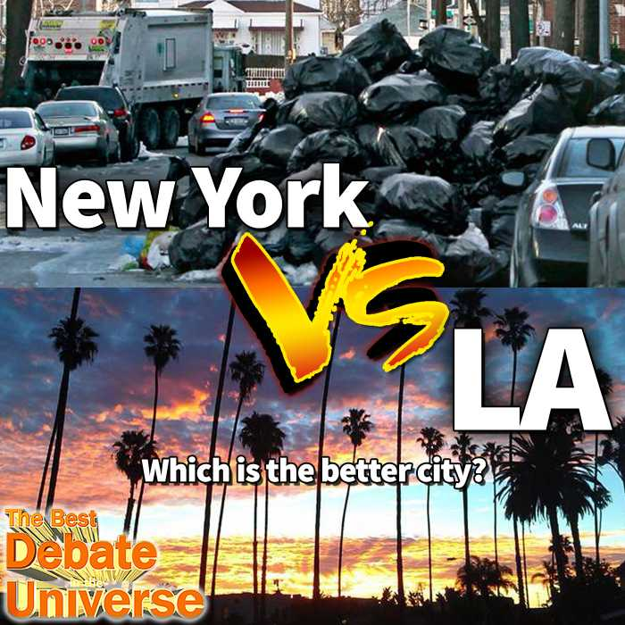 Madcast Media Network - The Best Debate in the Universe - Some cities claim to have rivalries, but a particular one that exists (albeit coming from one direction) is New York vs LA. Michael Malice defends NY in the debate this week: WHICH IS A BETTER CITY: NY OR LA?
