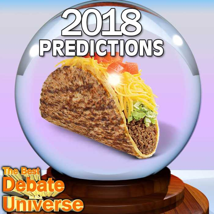 Madcast Media Network - The Best Debate in the Universe - One year ago this week, we made predictions for 2017. This episode we revisit those predictions to see how we did, plus we make new predictions for 2018: PREDICTIONS FOR 2018.